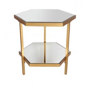 Mirrored Side Table Casablanca Champange