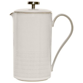 TEXTURED CAFETIERE NATURAL CANVAS Kitchenware