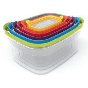 Joseph Joseph 6 Piece Compact Storage Container Set Kitchen Accessories