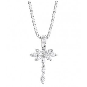 Cross Pendant with Clear Stones Jewellery / Watches
