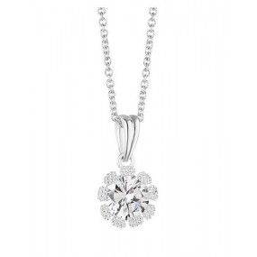 Flower Pendant Clear Stones Jewellery / Watches
