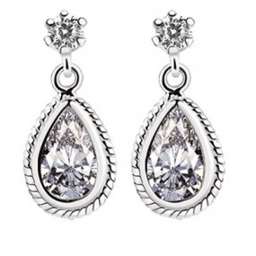 NewBridge SILVERWARE Clear Stone Studio Earrings