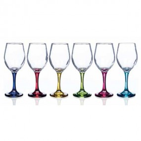 Newgrange Living Rainbow Vienna Wine Party Glasses 315cc (Set Of 6)