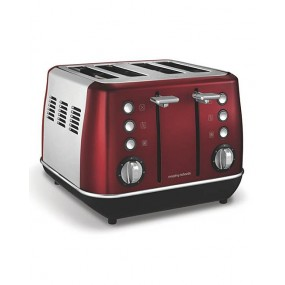 Morphy Richards Evoke 4 Slice Red Toaster