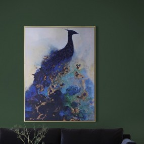 Scatter Box Art Canvas Peacock (91.5 x 122.3 x 81cm)