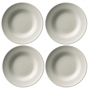 Belleek Ripple Pasta Bowls (Set of 4)