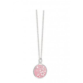 NewBridge Silverplate Floral Pendant Pink