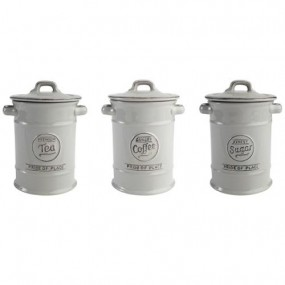 T&G Pride Of Place Tea, Coffee & Sugar Set, Cool Grey