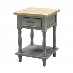 Storm Grey Tall 1 Drawer 1 Shelf Side Table