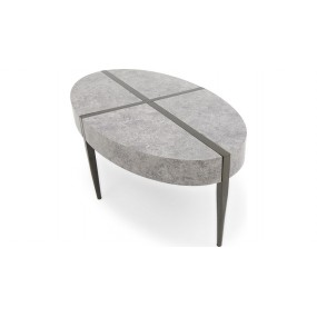 Carlos Oval Coffee Table Dark Concrete