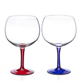 Newgrange Living Party Gin Glass Set of 2 (Red & Purple)