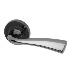 Intelligent Lever on Round Rose BNP Door Furniture