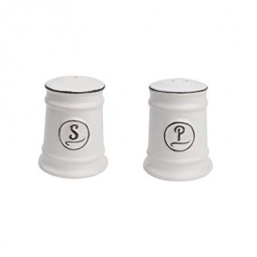 T&G Pride of Place White Salt & Pepper Set Tableware