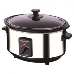 Oval Slow Cook 3.5ltr - Silver Slow Cookers