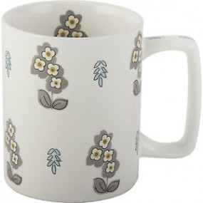 Pretty Retro Simple Floral Can Mug Kitchenware