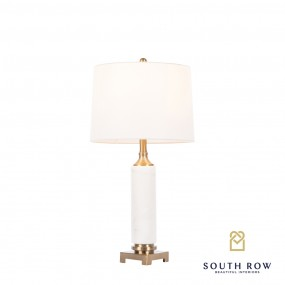 Rocca Marble/Brass Table Lamp 68cm