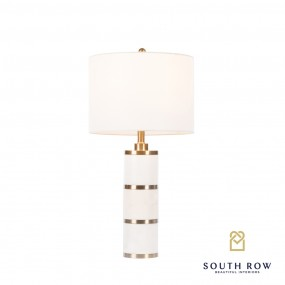 Rocca Marble/Brass Ring Table Lamp 71cm