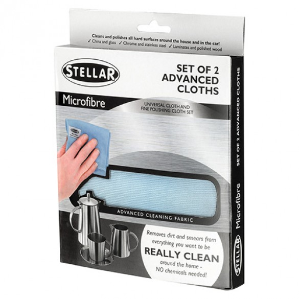 Cleaning Cloths P/2, Microfibre Kitchenware