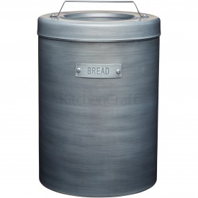 Industrial Kitchen Metal Grey Bread Bin Kitchen Storage
