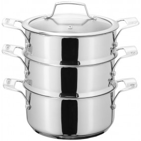 Stellar 3 Tier Stainless Steel Steamer Set - 24cm