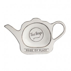 Pride of Place Tea Bag Tidy - White Teaware