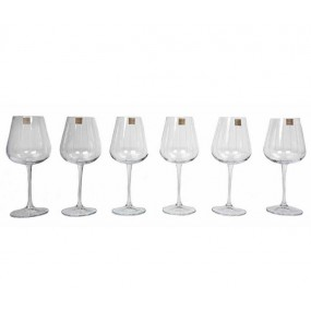 Tipperary Crystal Vertical Cut Set of 6 Wine Glasses