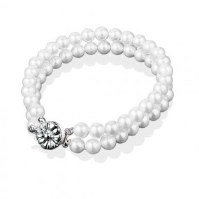 NewBridge SILVERWARE Grace Kelly pearl 2 Strand Bracelet