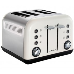 Morphy Richards Accents 4 Slice Toaster - White Toasters