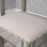 Relections Dressing Table With Stool - Champagne