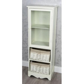 2 Basket 1 Door Kensey Cream Unit Furniture
